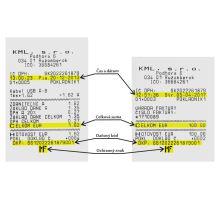 Dva vzorové pokladničné doklady